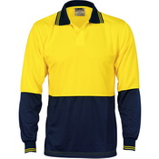 Hivis Two Tone Food Industry Polo - Long Sleeve