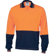 Hivis Cool Breeze Cotton Jersey Food Industry  Polo - Long Sleeve
