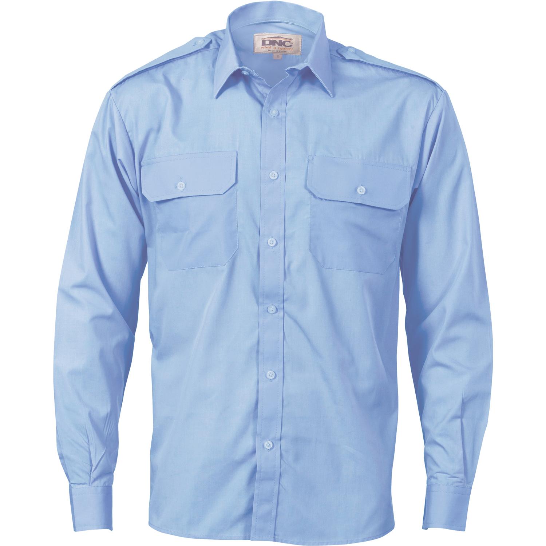 epaulette work shirt long sleeve loading zoom