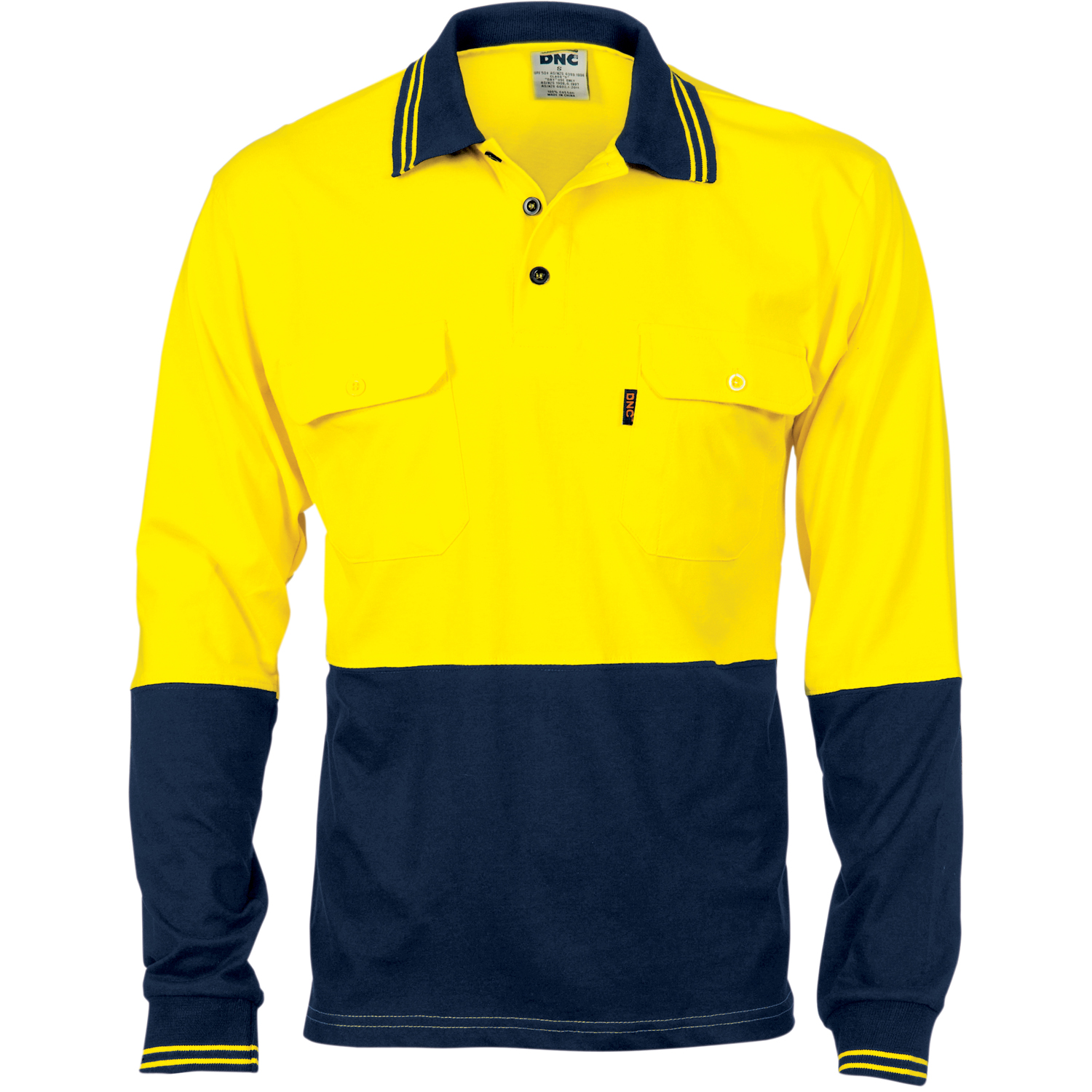 Product display dnc workwear workwear work wear for Two pocket polo shirt